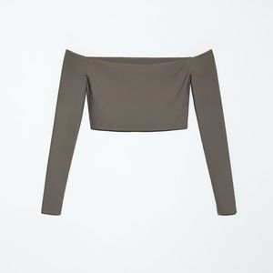 Perfect crop top in most beautiful stone colour